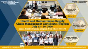 HHSCM Certificate Online Program 2020 Flyer